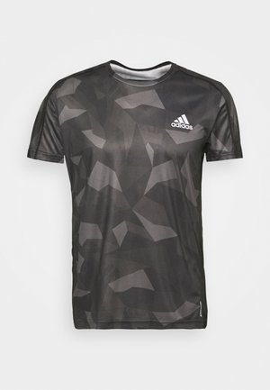RESPONSE PRIMEGREEN RUNNING SHORT SLEEVE TEE - T-shirt z nadrukiem - grefou/grefiv/gresix