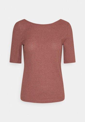 POINTELLE - Print T-shirt - coral