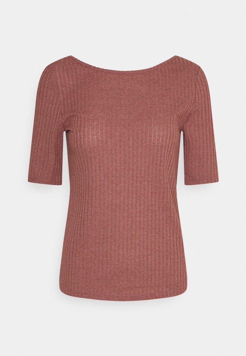 edc by Esprit - POINTELLE - Print T-shirt - coral