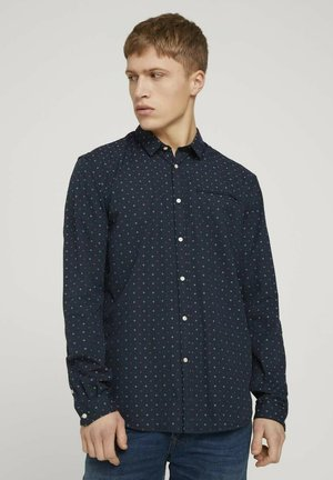 GEMUSTERTES - Shirt - navy two tone dot clipper