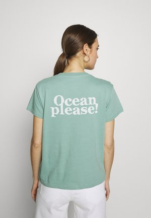 ROUND NECK - Print T-shirt - misty spearmint