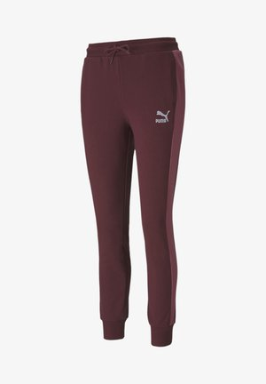 KVINNA - Tracksuit bottoms - burgundy