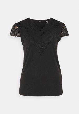 VMPHINE CAP SLEEVE - T-shirt med print - black