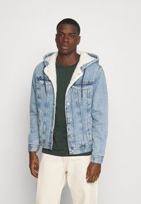 Jack & Jones - JJIJEAN JJJACKET HOOD - Chaqueta vaquera - blue denim - 0