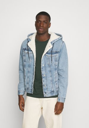 JJIJEAN JJJACKET HOOD - Denim jacket - blue denim