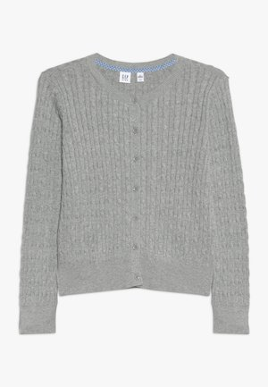 GIRLS UNI CABLE CARDI - Strikjakke /Cardigans - grey heather