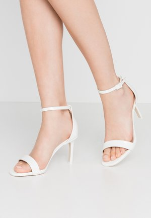 ELLA - High heeled sandals - white