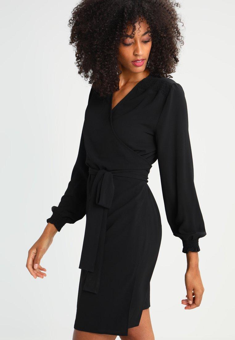 Kaffe - BLAKE WRAP DRESS - Day dress - black deep
