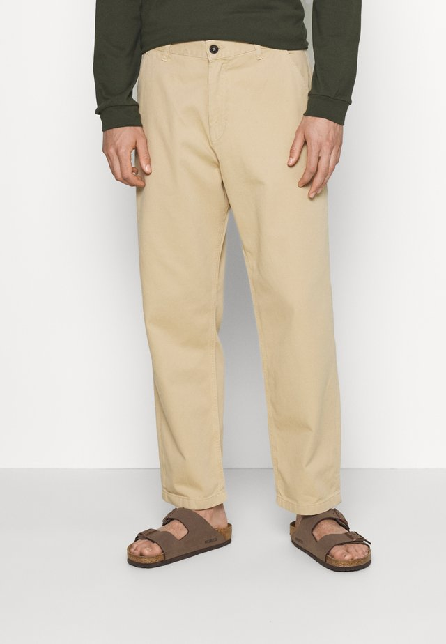 JAY PANT - Jeans straight leg - sand