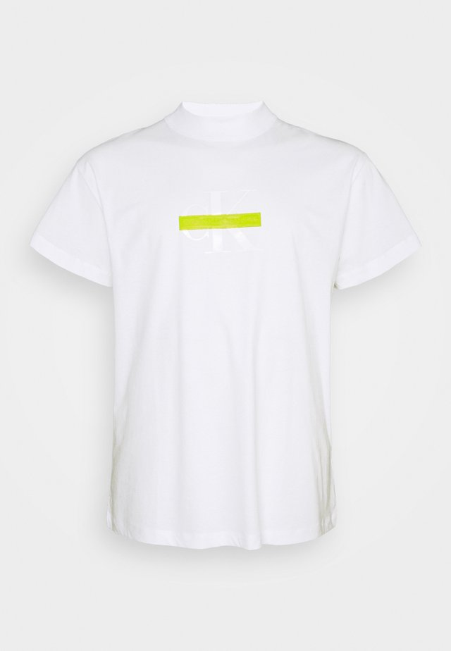 CENSORED TEE - T-shirt med print - bright white