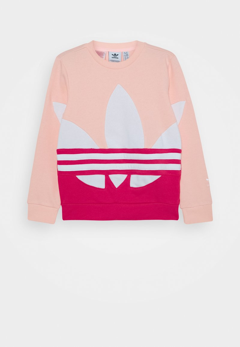 adidas Originals - BIG CREW - Sweatshirt - haze coral power pink/white