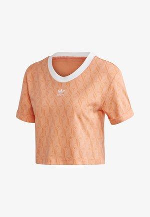 ADIDAS CROP TOP - T-Shirt print - orange
