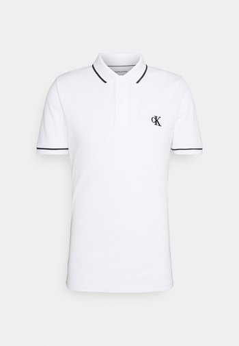 TIPPING SLIM - Poloshirt - white