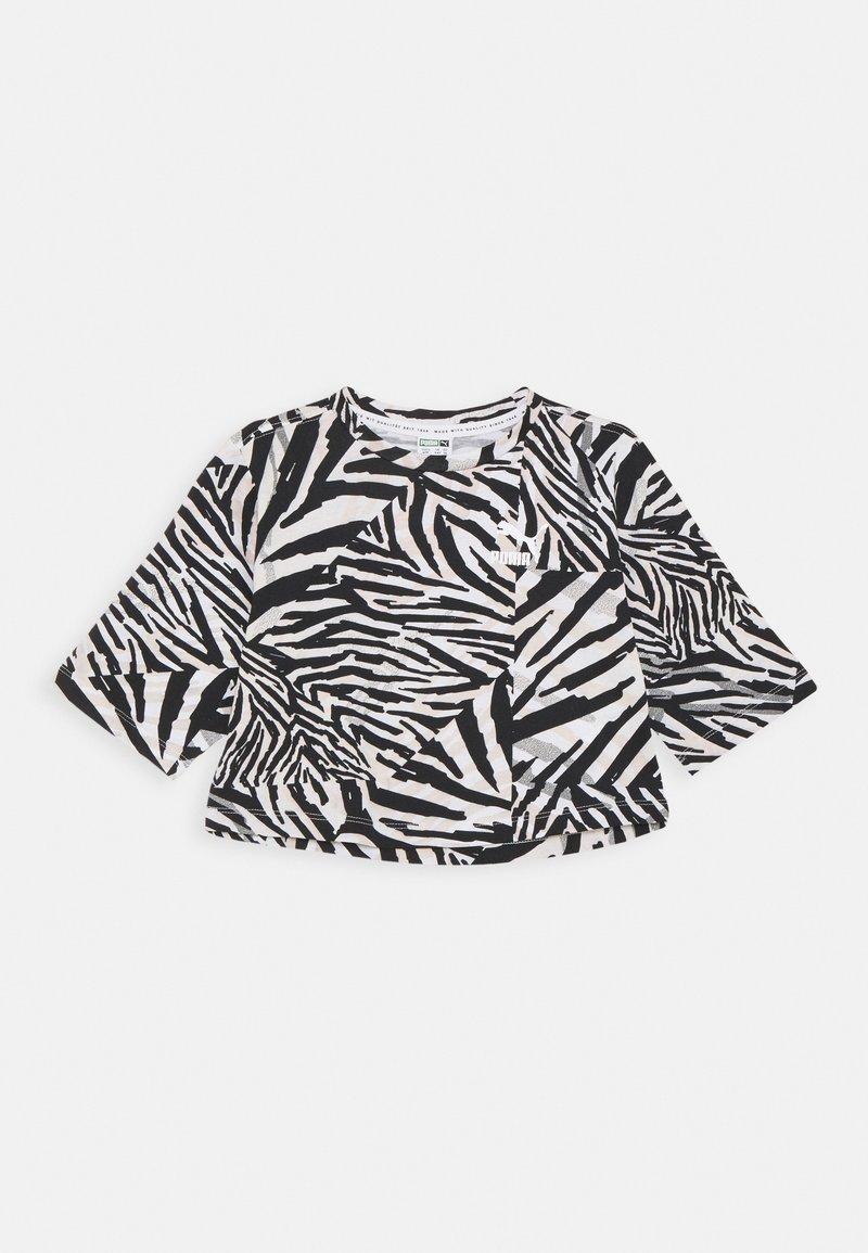 Puma - CLASSICS SAFARI TEE - Triko spotiskem - white