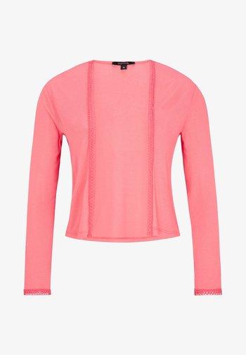 MIT SPITZENBLENDE - Cardigan - pink