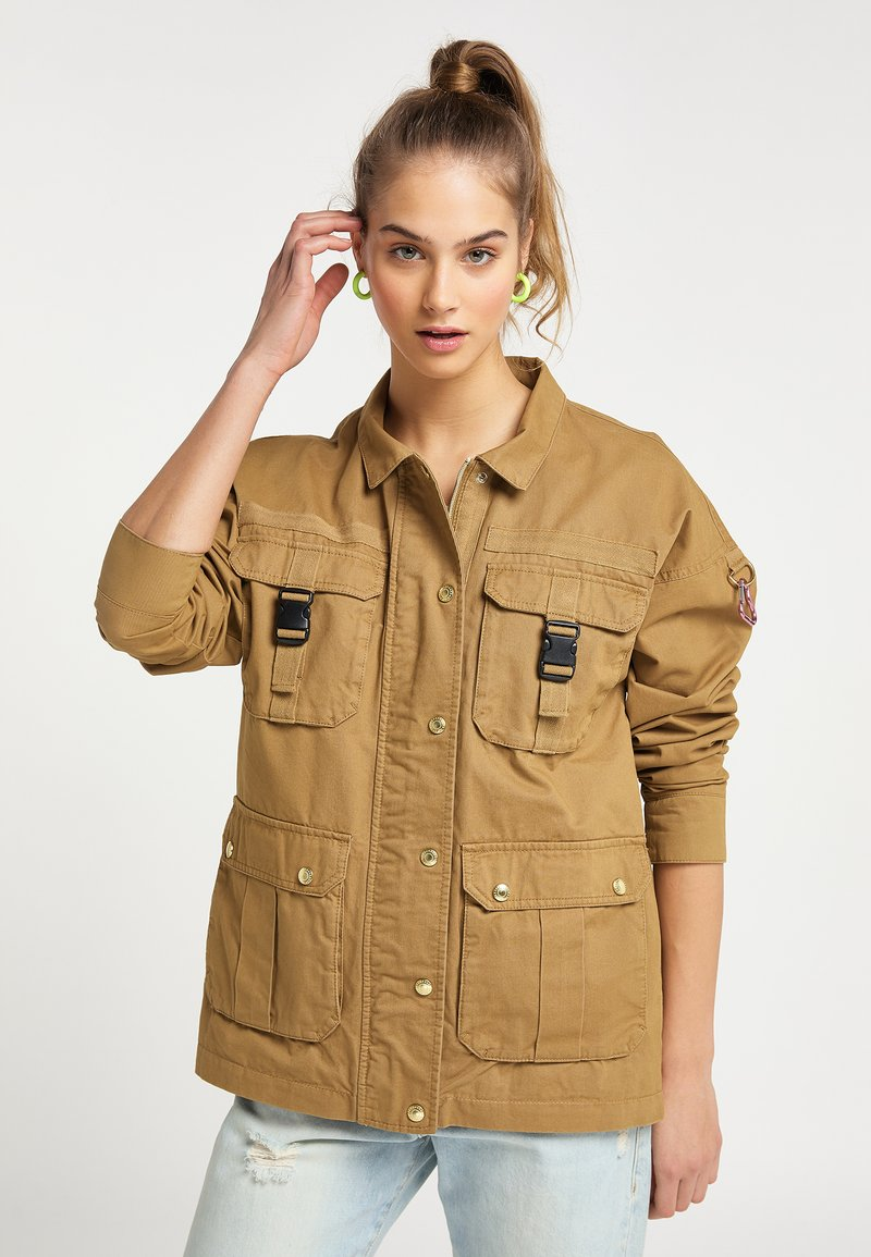 myMo - Light jacket - dunkelsand