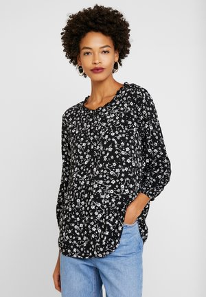 HENLEY - Blouse - black