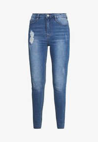 Missguided Tall - SINNER CLEAN DISTRESSED  - Jeans Skinny Fit - blue - 4