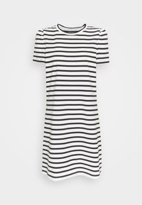 kate spade new york - STRIPE PUFF SLEEVE DRESS - Jersey dress - cream - 0