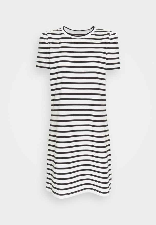 STRIPE PUFF SLEEVE DRESS - Jersey dress - cream