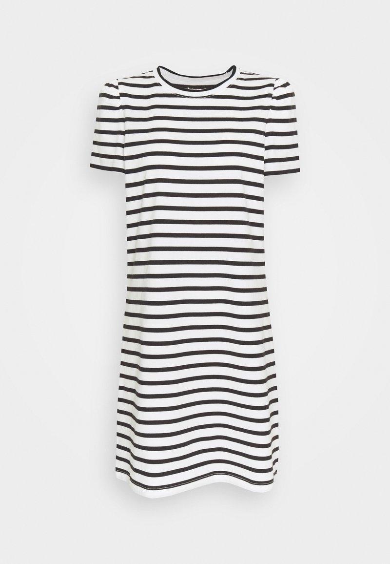 kate spade new york - STRIPE PUFF SLEEVE DRESS - Jersey dress - cream