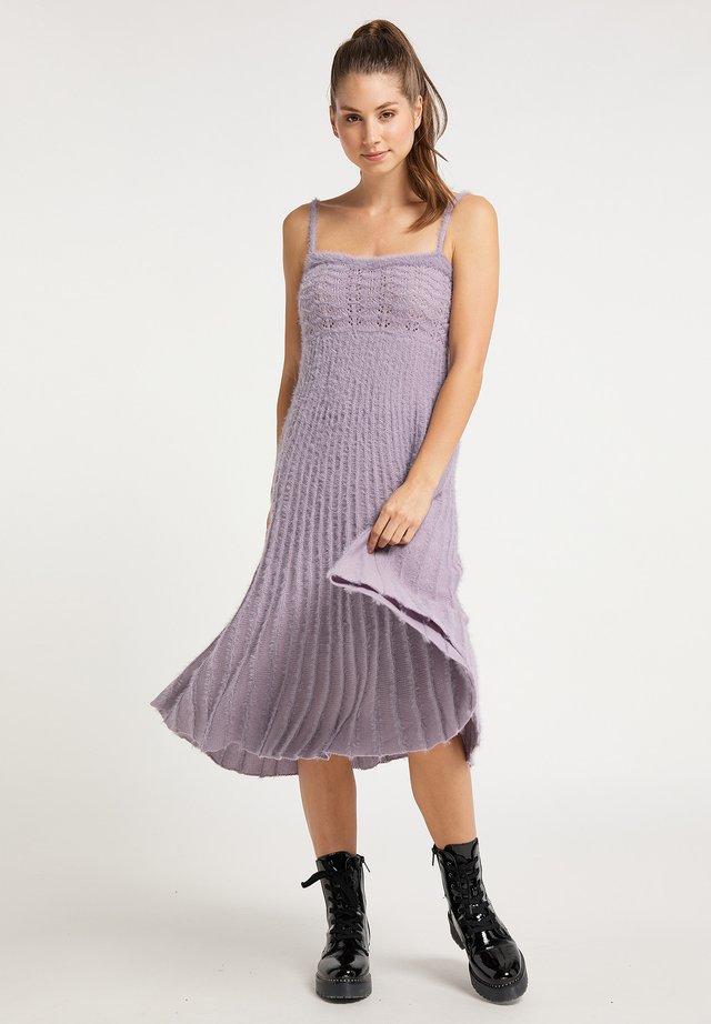 Gebreide jurk - flieder