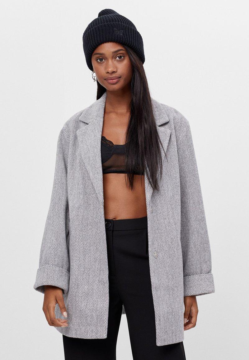 Bershka - Short coat - light grey