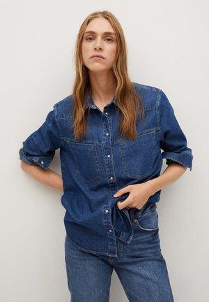 FRIDA - Button-down blouse - tmavě modrá