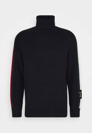 ICON TIPPED ROLL NECK - Jumper - blue