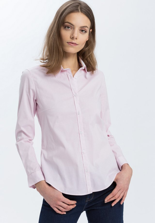 Button-down blouse - light-rosé