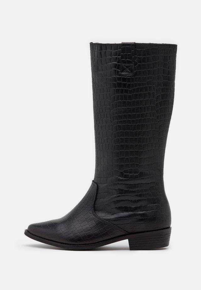 CAROLINA KNEE HIGH BOOTS - Stivali alti - black
