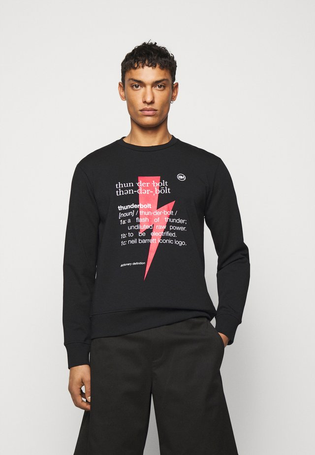 THUNDERBOLT DEFINITION SERIES - Sweatshirt - black/red/white