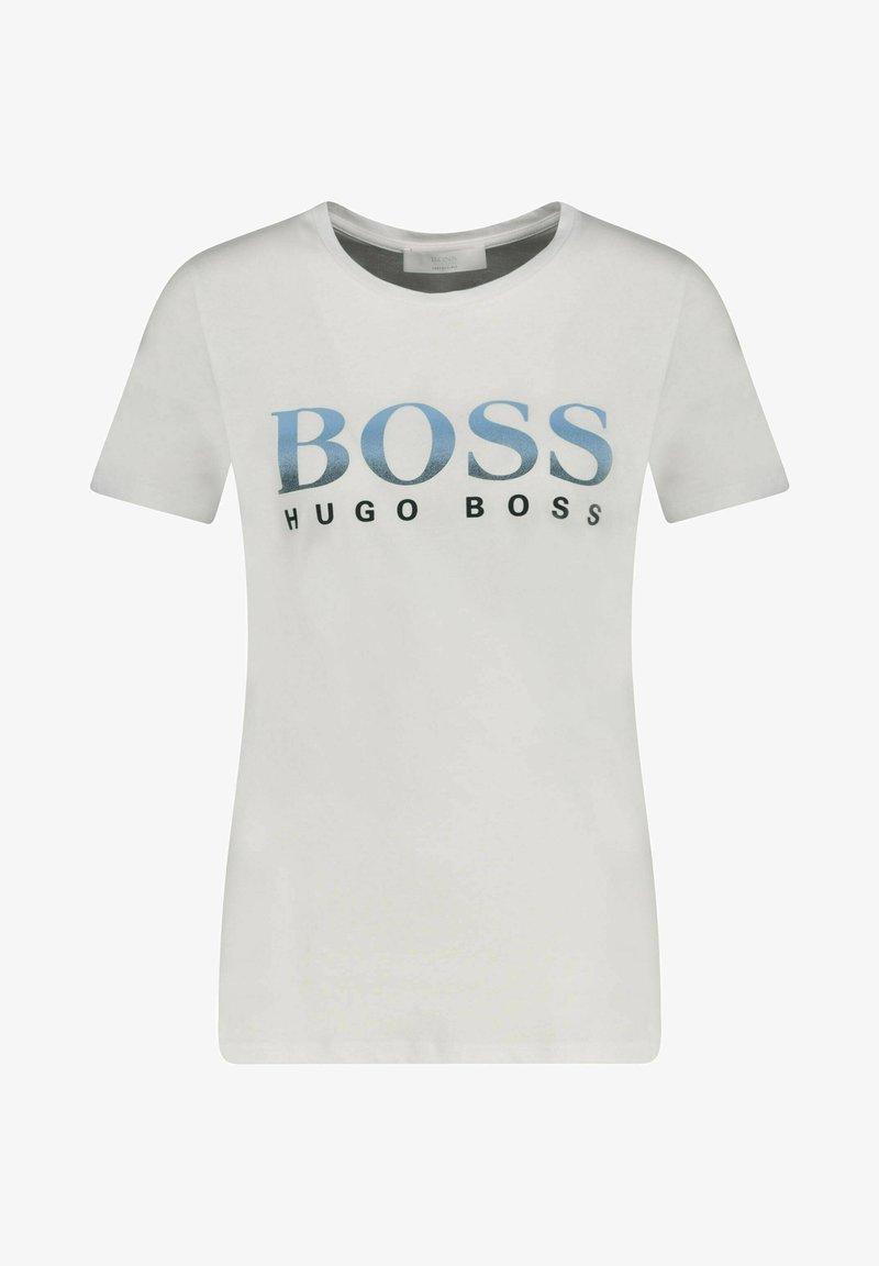 BOSS - Print T-shirt - sand
