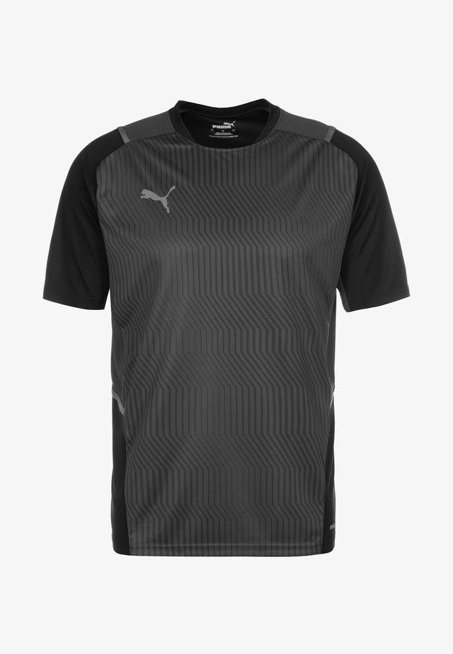 T-shirt con stampa - puma black / smoked pearl / asphalt