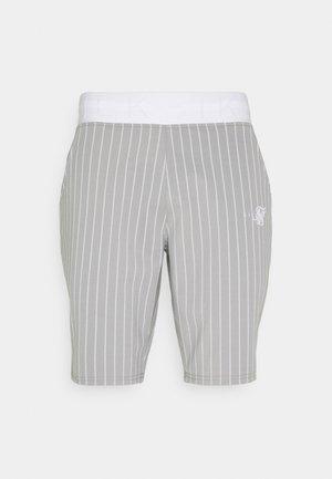 DUAL STRIPE - Shorts - grey/white