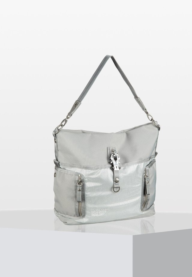 HO BEAU - Handbag - silver cloud