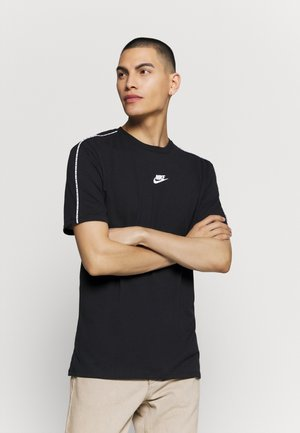 REPEAT - T-shirt con stampa - black