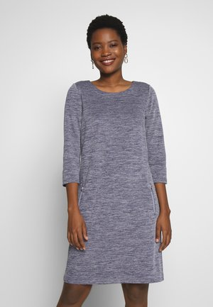 DRESSWITH ZIPPERS - Jumper dress - blue chambray