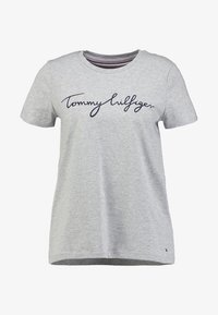 Tommy Hilfiger - HERITAGE CREW NECK GRAPHIC TEE - T-shirt z nadrukiem - light grey heather - 3