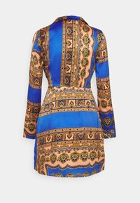 Missguided - KNOT FRONT SCARF PRINT DRESS - Kjole - blue - 1