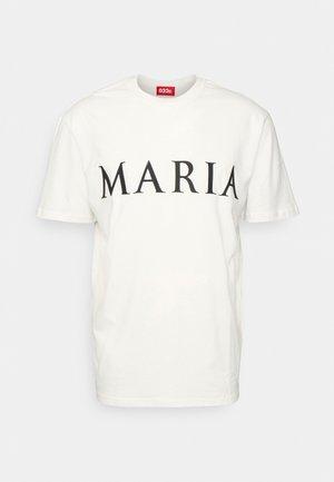 MARIA UNISEX - Apdrukāts T-krekls - white