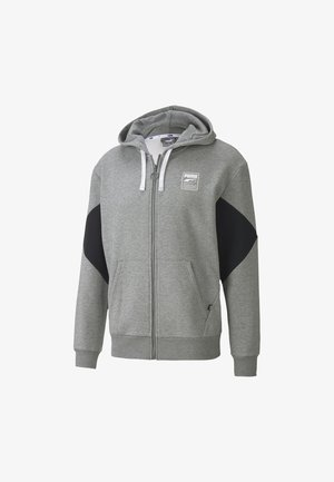 REBEL  - Hoodie met rits - medium gray heather