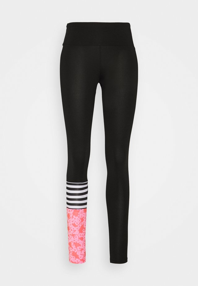 LEGGINGS SURF STYLE FLEURY - Trikoot - black