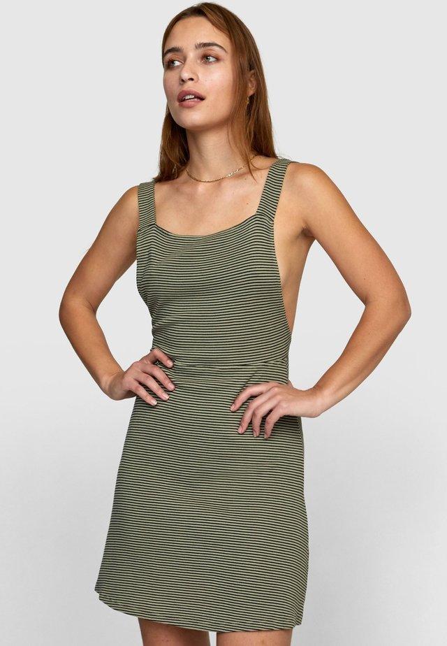 Korte jurk - khaki sage