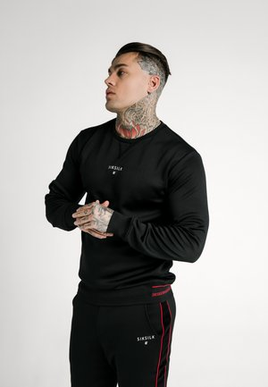 IMPERIAL CREW NECK SWEATER - Sweater - black/red