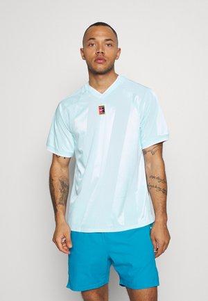 Print T-shirt - topaz mist/white
