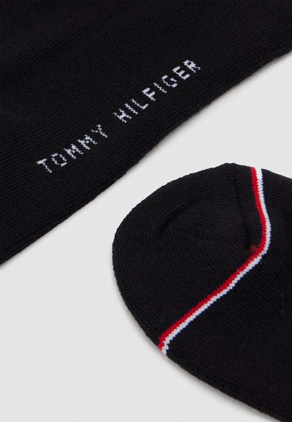 Tommy Hilfiger MEN ICONIC SNEAKER 2 PACK - Skarpety - black/czarny Odzież Męska JSSZ
