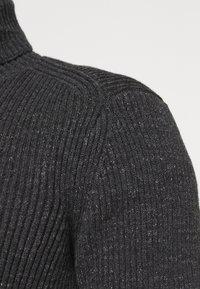 Marc O'Polo - TURTLE NECK - Jumper - dark grey melange - 5