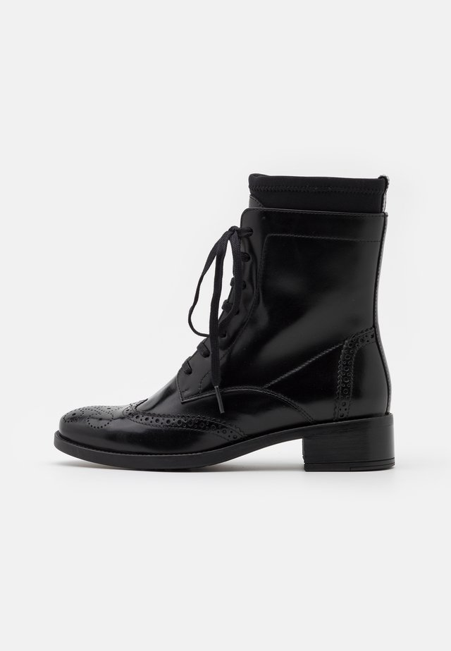 ELMER - Lace-up ankle boots - black