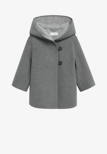 JAS MET CAPUCHON EN KNOPEN - Krátký kabát - grijs